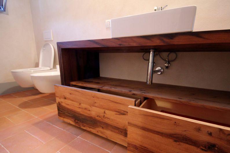 Mobili bagno in rovere antico - Arredo Bagno - Falegnameria Ferrari ...