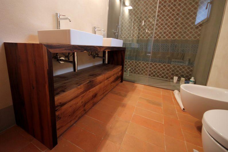 Mobili bagno in rovere antico arredo bagno falegnameria ferrari